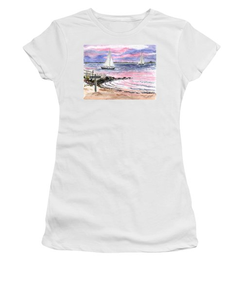 Cedar Beach Pinks Women's T-Shirt (Athletic Fit)