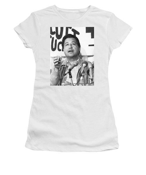 Cesar Chavez Announces Boycott Women's T-Shirt (Athletic Fit)