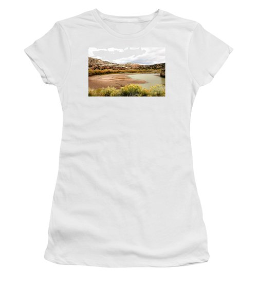 Women's T-Shirt (Junior Cut) featuring the photograph Chama River Swim Spot by Roselynne Broussard