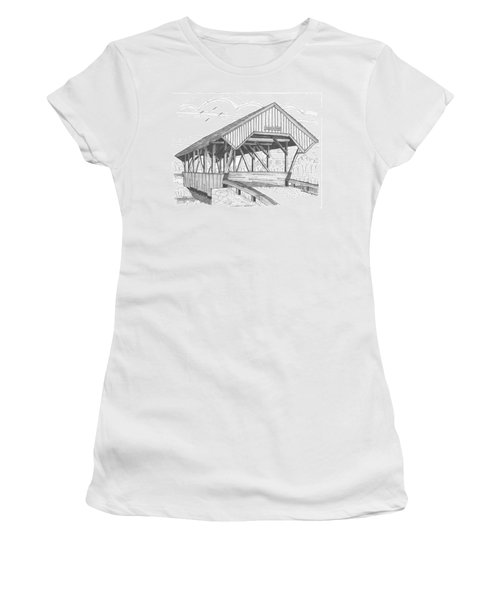 Chamberin Mill Covered Bridge Women's T-Shirt