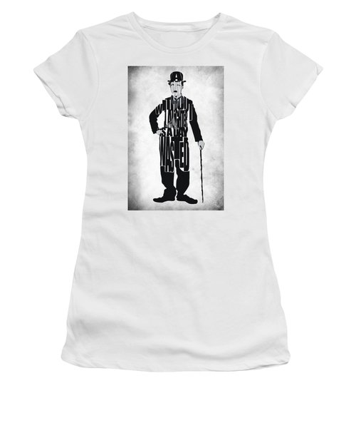 Charlie Chaplin Typography Poster Women's T-Shirt