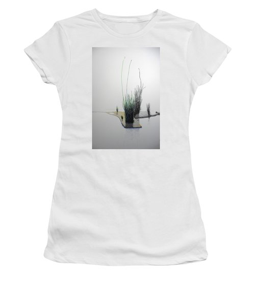 Women's T-Shirt (Junior Cut) featuring the painting Chasm by A  Robert Malcom