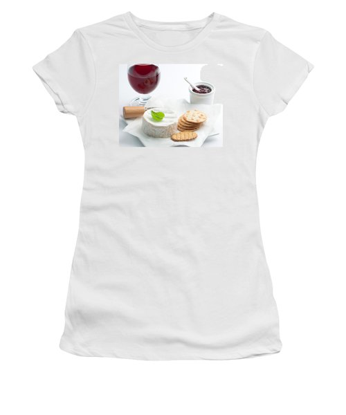 Cheese And Crackers With Wine Women's T-Shirt