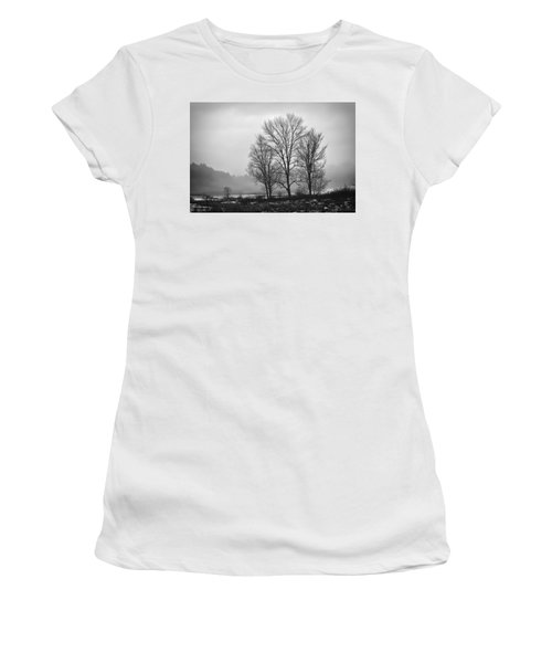 Cheese House Road Trees Women's T-Shirt (Athletic Fit)