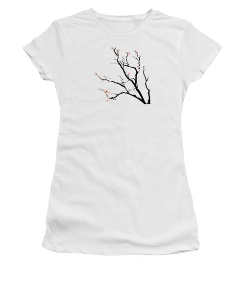 Cherry Blossoms Tree Women's T-Shirt (Junior Cut) by Gina Dsgn