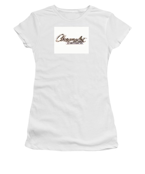 Chevrolet Camaro Emblem Women's T-Shirt (Junior Cut) by Jerry Fornarotto