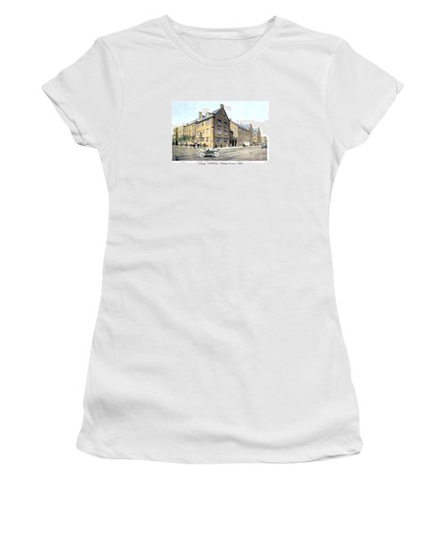 Chicago Illinois - Hull House - Halstead Avenue - 1906 Women's T-Shirt (Athletic Fit)