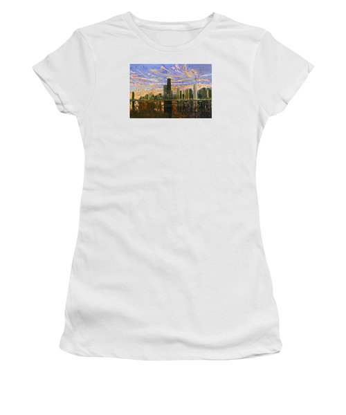 Chicago Women's T-Shirt (Junior Cut) by Mike Rabe