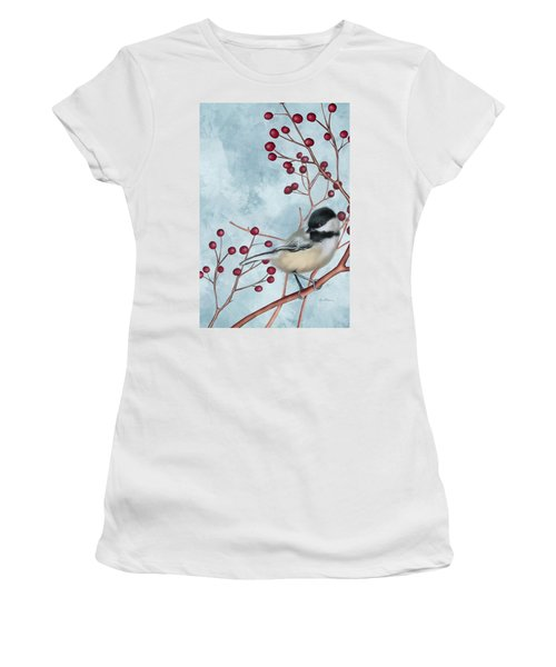 Chickadee I Women's T-Shirt (Athletic Fit)