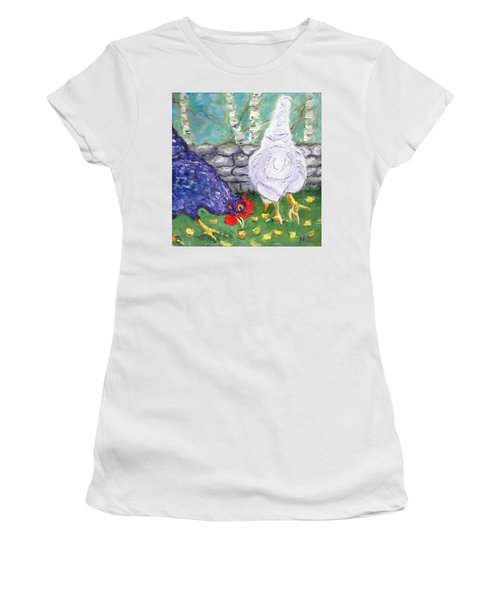 Chicken Neighbors Women's T-Shirt (Athletic Fit)