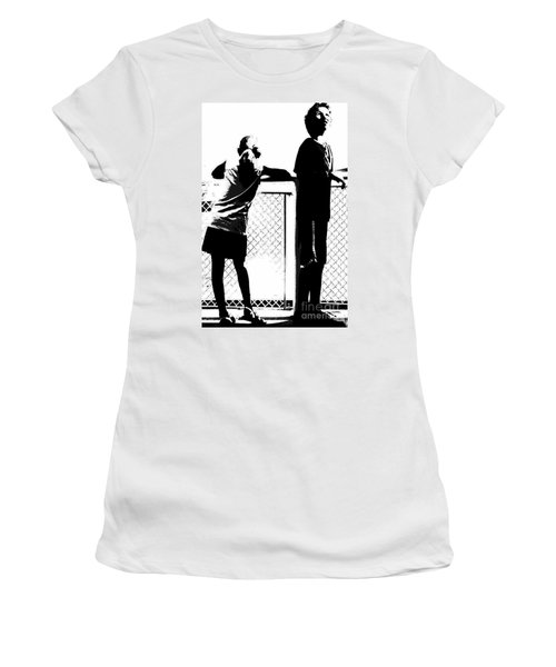 Women's T-Shirt (Junior Cut) featuring the photograph Children On Governors Island Ferry Ride by Lilliana Mendez
