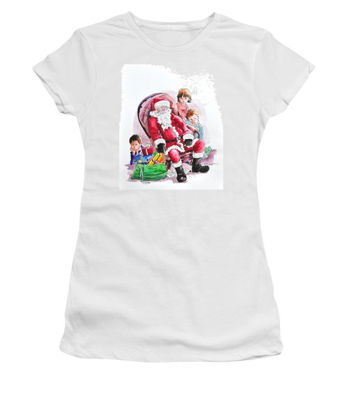 Children Patiently Waiting Up For Santa. Women's T-Shirt (Athletic Fit)
