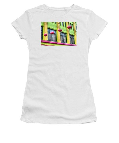 Chinatown Colors Women's T-Shirt (Athletic Fit)