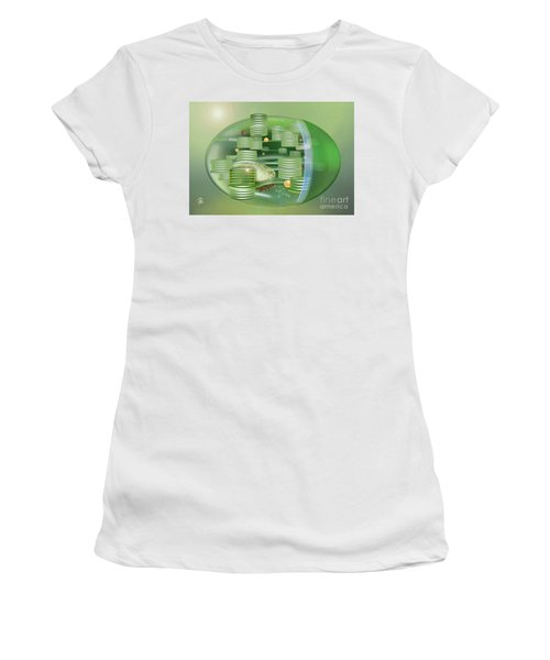 Chloroplast - Basis Of Life - Plant Cell Biology - Chloroplasts Anatomy - Chloroplasts Structure Women's T-Shirt