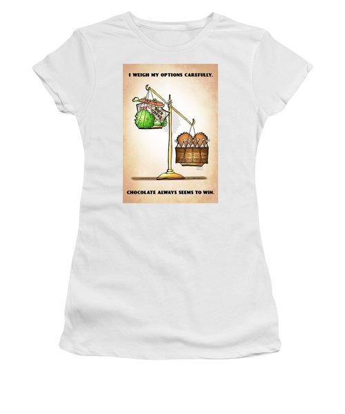 Chocolate Always Wins Women's T-Shirt