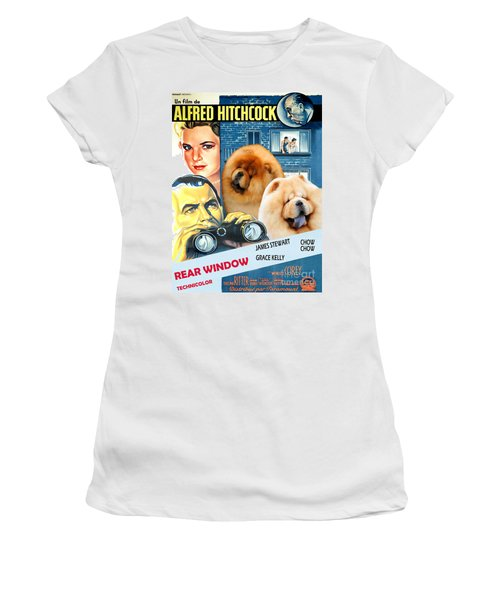 Chow Chow Art Canvas Print - Rear Window Movie Poster Women's T-Shirt (Athletic Fit)