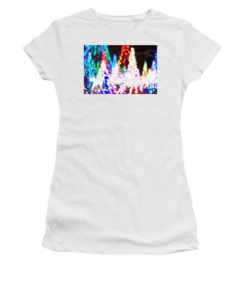 Christmas Lights Abstract Women's T-Shirt