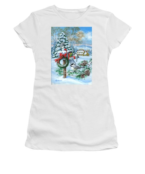 Christmas Mail Women's T-Shirt (Athletic Fit)