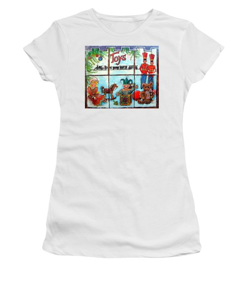 Christmas Window Women's T-Shirt (Athletic Fit)