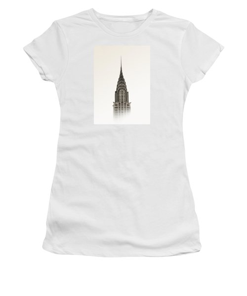 Chrysler Building - Nyc Women's T-Shirt (Junior Cut) by Nicklas Gustafsson