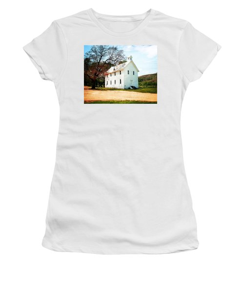 Women's T-Shirt (Junior Cut) featuring the photograph Church At Boxley by Marty Koch