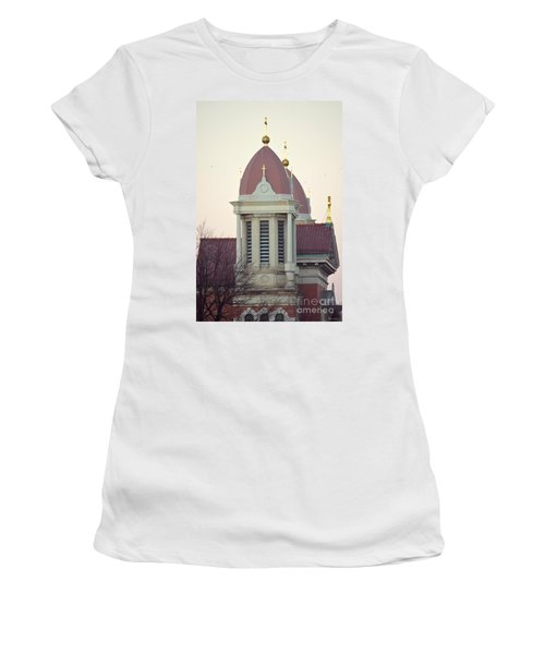Church Of Gold Crosses Women's T-Shirt (Athletic Fit)