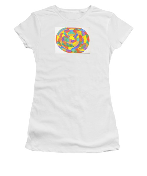 Women's T-Shirt (Junior Cut) featuring the painting Life Cycles by Stormm Bradshaw