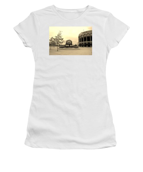 Citi Field In Sepia Women's T-Shirt