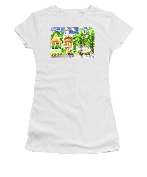 City Square In Watercolor Women's T-Shirt