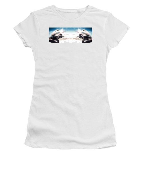 Women's T-Shirt (Junior Cut) featuring the photograph Propeller Aircraft by R Muirhead Art