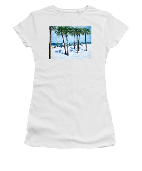 Clearwater Beach Morning Women's T-Shirt (Junior Cut) by Penny Birch-Williams