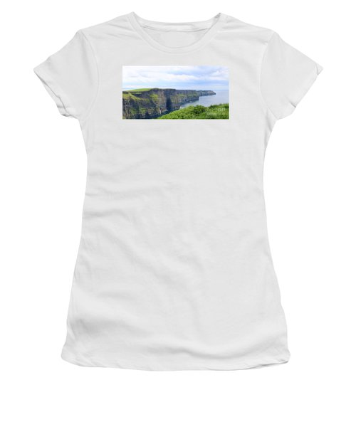 Cliffs Of Moher Panorama 3 Women's T-Shirt (Athletic Fit)