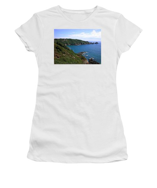 Cliffs On Isle Of Guernsey Women's T-Shirt