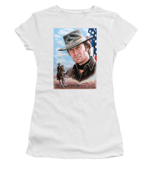 Clint Eastwood American Legend Women's T-Shirt (Athletic Fit)