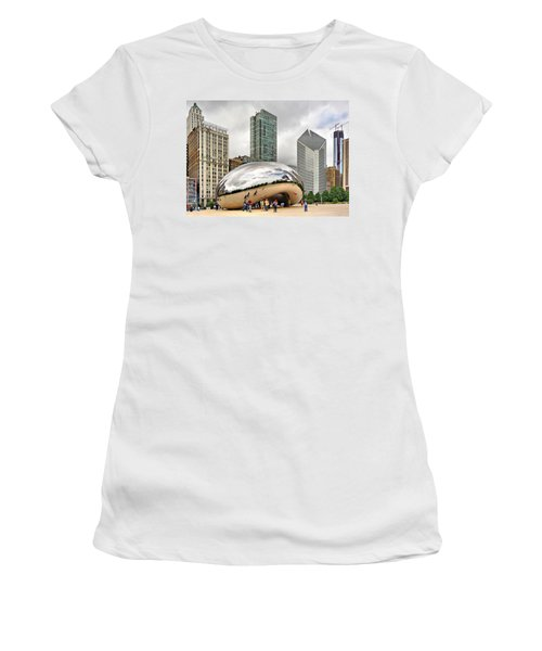 Cloud Gate In Chicago Women's T-Shirt (Athletic Fit)