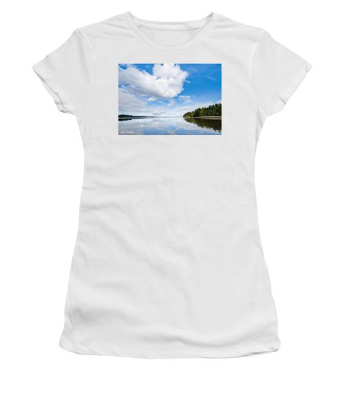 Clouds Reflected In Puget Sound Women's T-Shirt