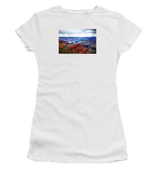 Women's T-Shirt (Junior Cut) featuring the photograph Cloudy Day At The Canyon by Paul Mashburn