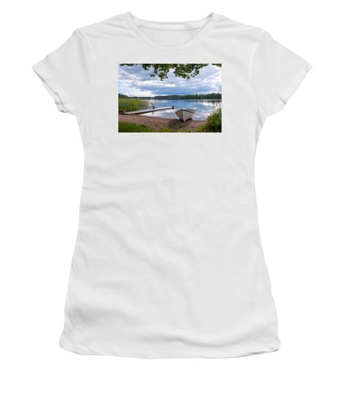 Cloudy Summer Day Women's T-Shirt (Athletic Fit)