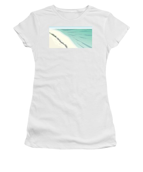 Coastal Wash Women's T-Shirt (Junior Cut) by Kevin McLaughlin