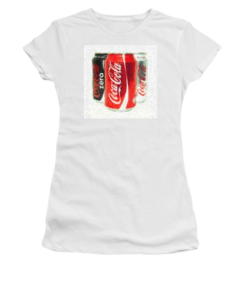 Coca Cola Art Impasto Women's T-Shirt (Athletic Fit)