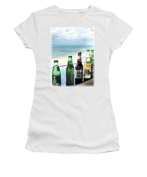 Cold Beers In Paradise Women's T-Shirt (Athletic Fit)