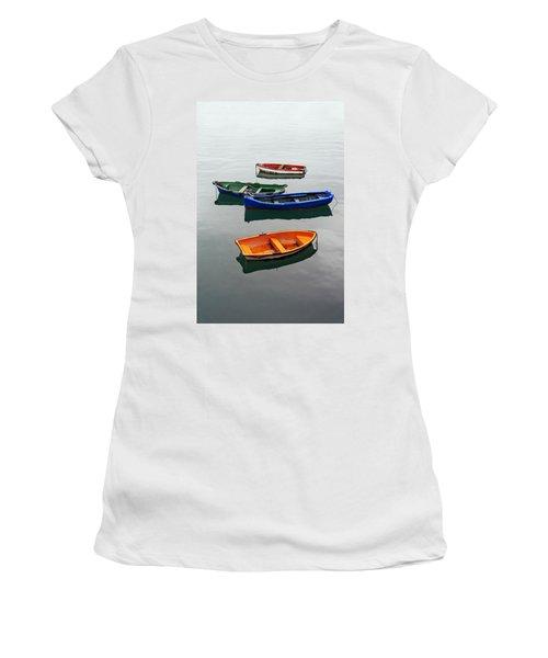 colorful boats on Santurtzi Women's T-Shirt