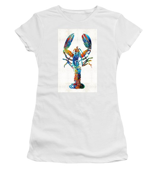 Colorful Lobster Art By Sharon Cummings Women's T-Shirt