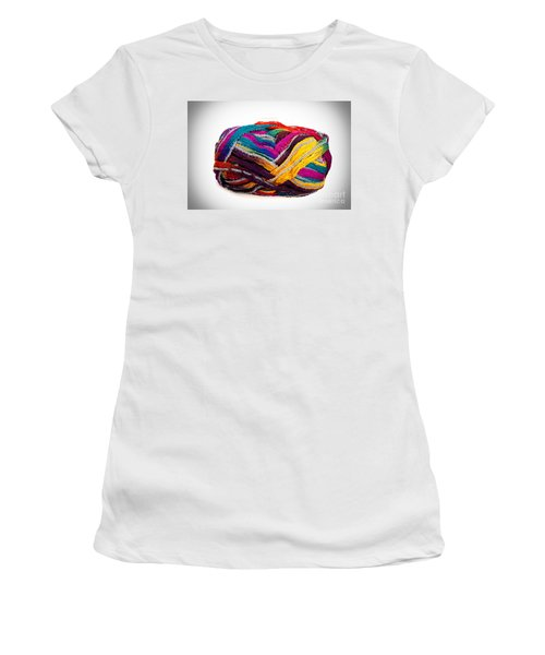 Colorful Yarn Women's T-Shirt (Junior Cut) by Les Palenik