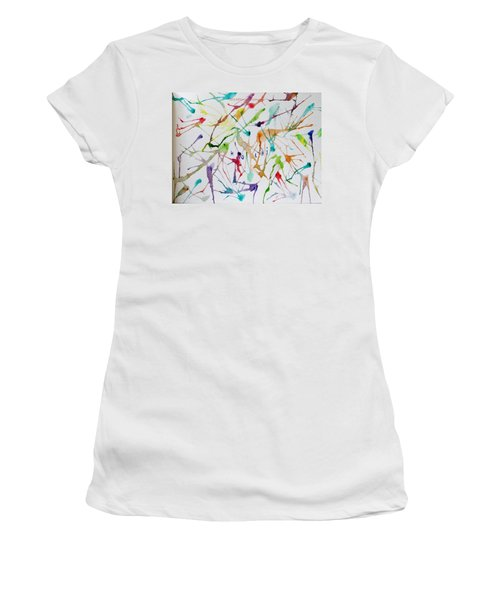 Colourful Holi Women's T-Shirt (Athletic Fit)