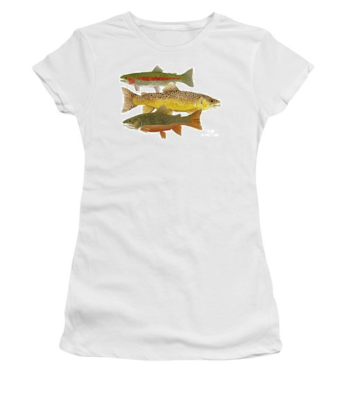 Common Trout  Rainbow Brown And Brook Women's T-Shirt