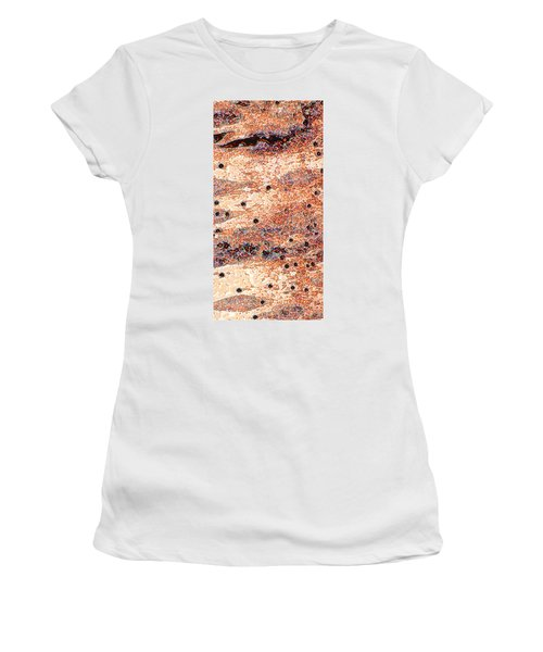 Women's T-Shirt (Junior Cut) featuring the photograph Copper Lake 2 by Stephanie Grant
