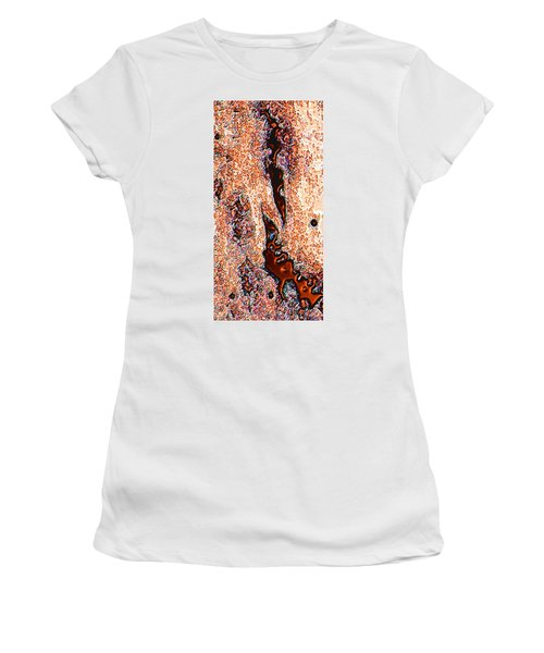 Women's T-Shirt (Junior Cut) featuring the digital art Copper Lakes by Stephanie Grant
