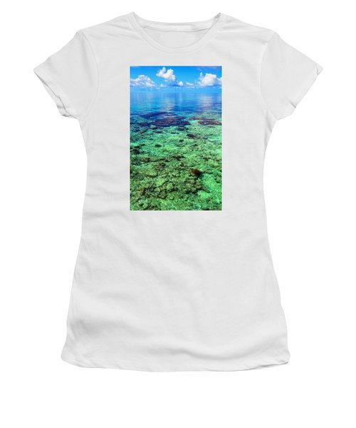 Coral Reef Near The Island At Peaceful Day. Maldives Women's T-Shirt (Athletic Fit)