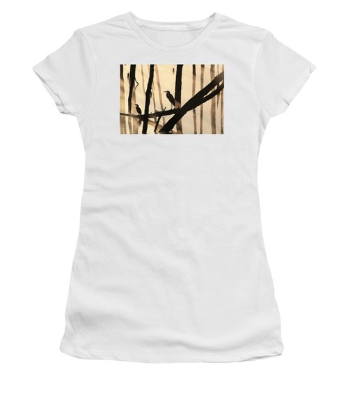 Cormorant And The Heron Women's T-Shirt (Athletic Fit)